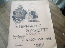 VINTAGE ORIGINAL SHEET MUSIC 1933 STEPHANIE GAVOTTE CZIBULKA WILSON MANHIRE EASY